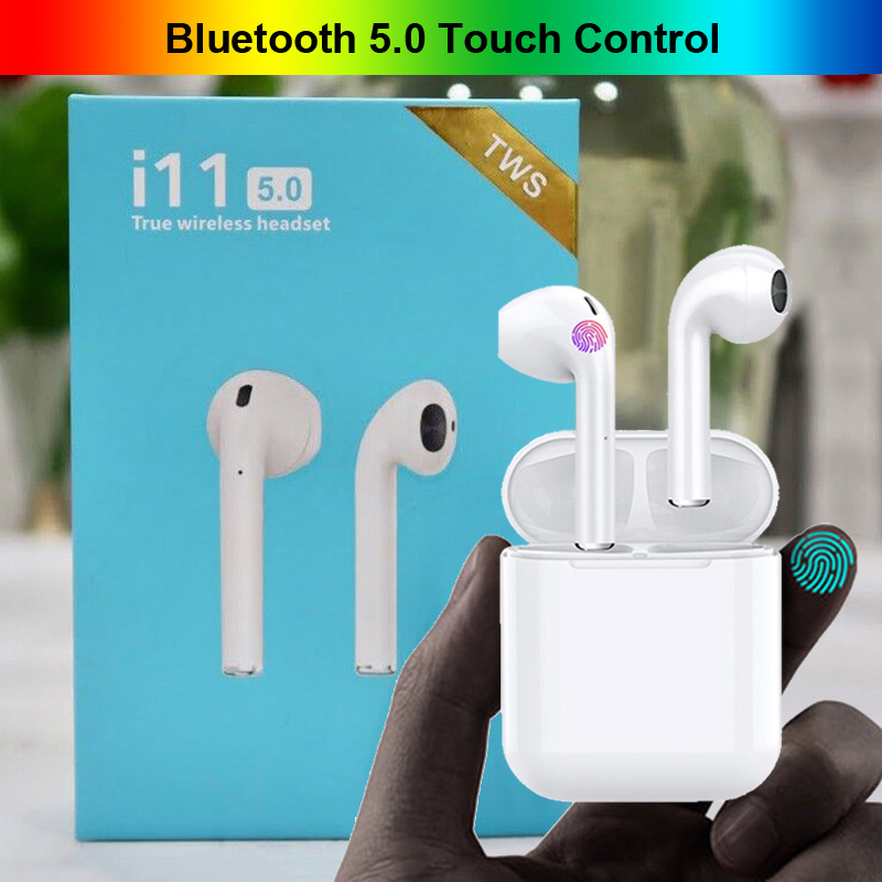 i11 <font><b>TWS</b></font> Touch Control Wireless Headphones <font><b>Bluetooth</b></font> <font><b>5.0</b></font> Earphones Mini 1:1 Headset PK i10 <font><b>i12</b></font> I7 pods For Phone With Mic <font><b>earbuds</b></font> image