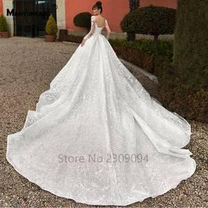 Image 5 - Vestido de boda de manga larga con espalda transparente, abendkleider 2020