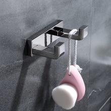 SUS 304 Handdoek Haak Dubbele Robehaak Rvs Chroom Muur Hanger voor Handdoek Badkamer Robe Gratis Verzending