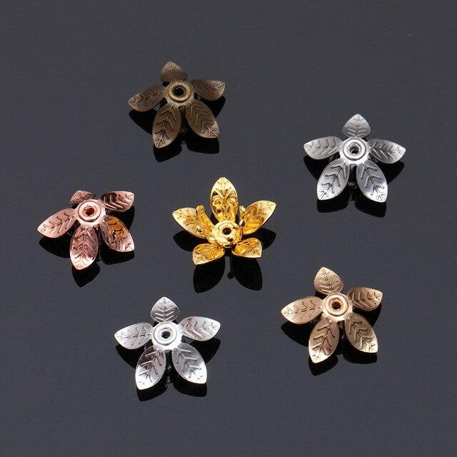 Фото 20 шт винтажные медные бусины в форме цветка 12 х7 мм