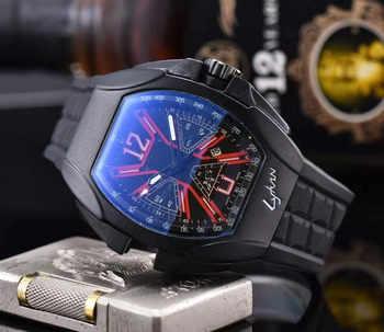 Top marque chronographe Heren Horloges Luxe haut de gamme Quartz Horloge Blauw silicone Militaire Sport Horloge Relogios Klok