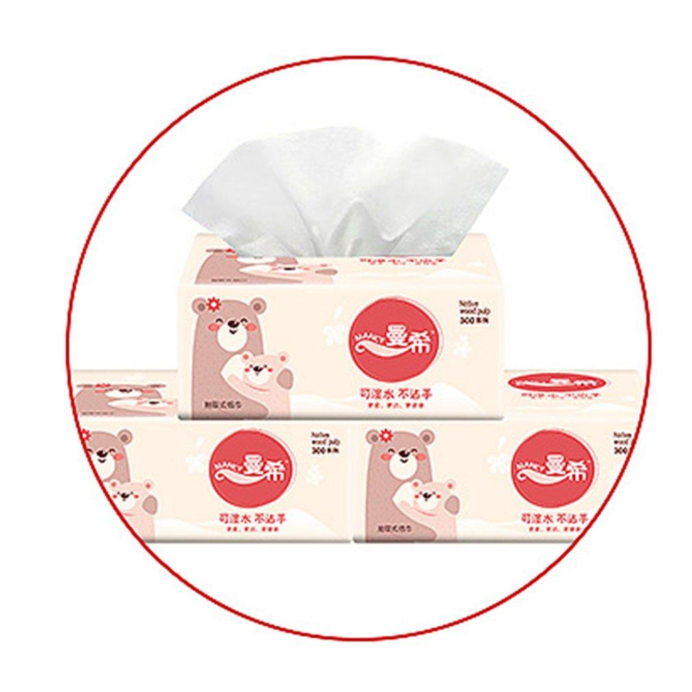 Napkin Paper Yellow Bear Advertising Custom Paper Single Paper Pumping Toilet Paper Virgin Pulp Paper 10 Bag Dropshipping
