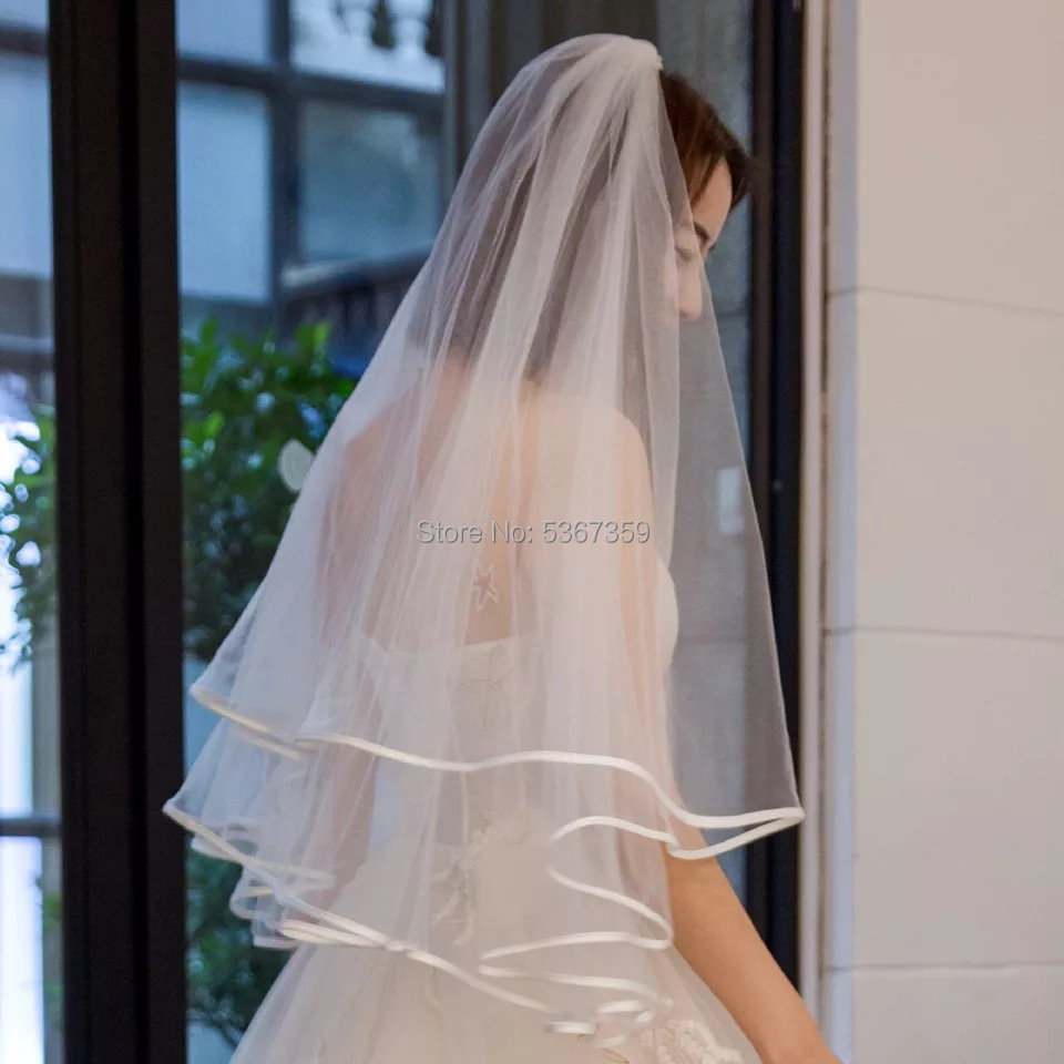Wedding Accessories Short Bridal Veils With Comb High Quality Cheap Wedding Veils