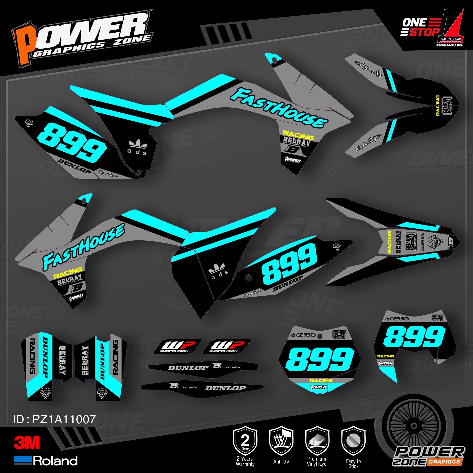 Персонализированные графические фоны PowerZone Team, наклейки 3M, Набор наклеек для KTM SX SXF MX 11-12 EXC XCW Enduro 12-13 125-500cc 07