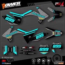 Equipe de Gráficos Fundos Decalques 3 PowerZone Personalizado M Kit Autocolantes Para KTM SX SXF XCW 11-12 EXC MX Enduro 12-13 125 a 500cc 07
