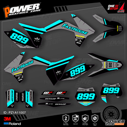 PowerZone Custom Team Graphics Backgrounds Decals 3M Stickers Kit For KTM SX SXF MX 11-12 EXC XCW Enduro 12-13 125 to 500cc 07