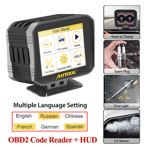 Image 1 - AUTOOL X80 Obd2 Hud Car Engine Code Reader On board Computer Head Up Display 2 IN 1 Multi function Diagnostic Full OBDII