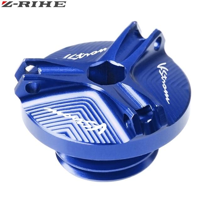 Tapón de relleno de aceite para SUZUKI DL650 v-strom DL1000 DL 650/XT 1000/XT V Strom accesorios conector de drenaje de aceite del motor Cubierta v-strom