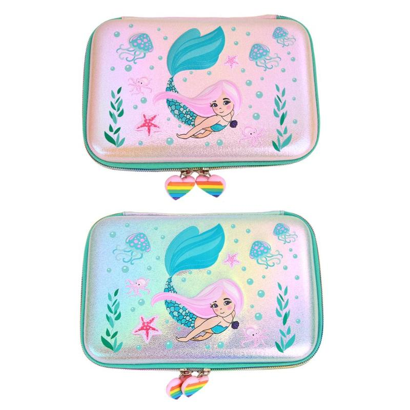 Cute Mermaid Sequins EVA Pencil Stationery Case School Supply Cosmetic Bag