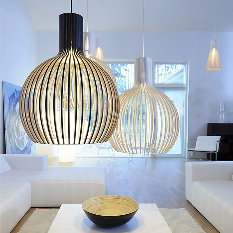 Modern Wood Hanging Lamps For Living Room Dining Room Pendant Lights Dining Room Kitchen Pendant Lamp Home Decor Light Fixtures