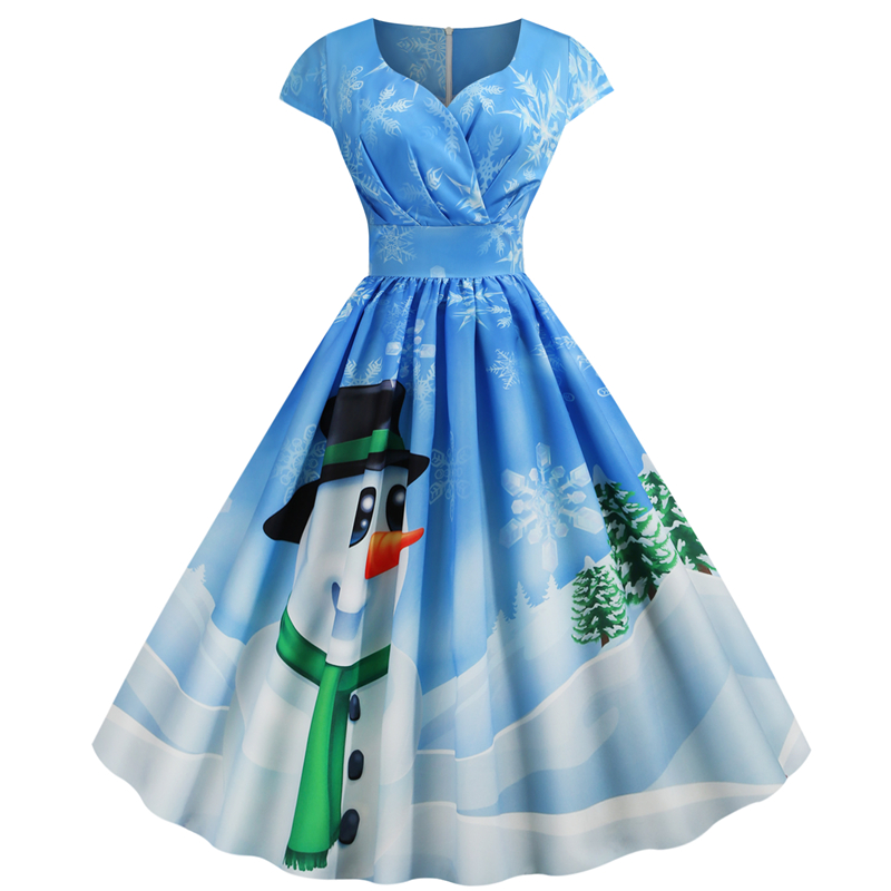 Лидер продаж, ретро платье с V-образным вырезом и коротким рукавом в стиле Хепберн