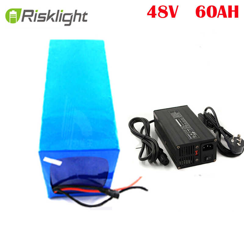 DIY 48V 2000W Electric Bike Battery High Power Lithium ion 48 Volt 60Ah Battery for e-Bike