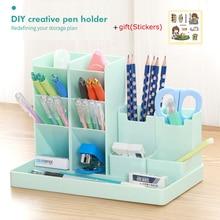 Large Capacity Cute StationeStorage Supplies Desk Pen Holder Pencil Desktop Organizer Stand CaseSchool Office Stationery