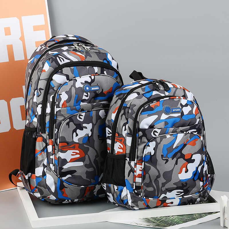 JODIMITTY 2 rozmiary plecak wodoodporne torby szkolne dziewczyny chłopcy książka dla dzieci torba kamuflaż dzieci Mochila Escolar tornister