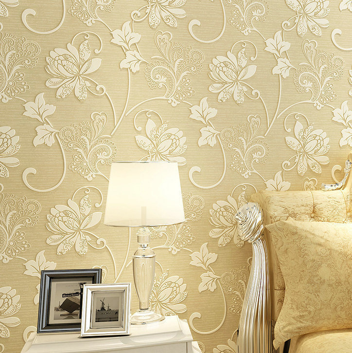3D Pastoral Style Wallpaper Butterflies Nonwoven Fabric Environmentally Friendly Home Improvement Restaurant Bedroom Living Room