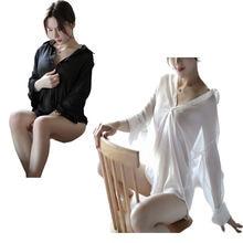 Соблазнительная ночная рубашка соблазнительная Пижама женское