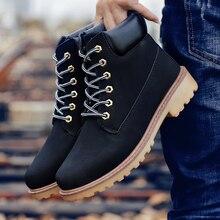 Coturno Botas altas de piel para hombre, botines impermeables con piel, para el invierno