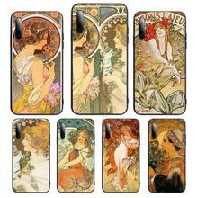 Hot Art ALPHONSE MUCHA Soft Silicone Phone Case For Xiaomi mi6 5x 8 a1 2 9se 8lite 3s Cover Fundas Coque