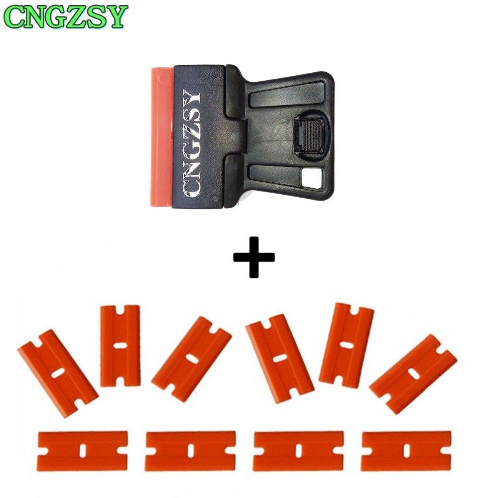 Scraper For Removing Stickers Film Glue Removal Mobile Screen Repair Cleaning Razor Scraper + 10pcs Replacement Blades E19+10P