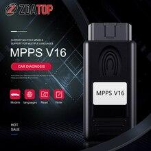 MPPS V16 ECU чип-тюнинг для EDC15 EDC16 Inkl CHECKSUM CAN Flasher Remap MPPS V16 диагностический инструмент для BMW для hyundai ForNissan