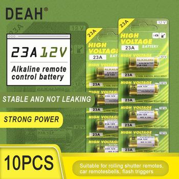 10 sztuk nowy suche alkaliczne baterii 23A 12V A23 do dzwonka alarm samochodowy pilot zdalnego sterowania 21 23 23GA A23 A-23 GP23A RV08 LRV08 E23A V23GA tanie i dobre opinie DEAH CN (pochodzenie) Bateria alkaliczna High 28*10mm 10PCS Remote control wireless doorbell ceiling lamp remote control