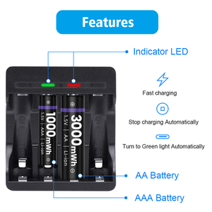 Image 5 - G Linked 1.5V Battery Charger Li ion LED Smart Fast Charger for 1.5V AA AAA Lithium Rechargeable Batteries Baterias