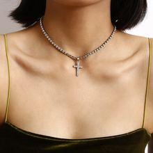 Высокое качество хрустальный крест колье с подвеской ожерелье