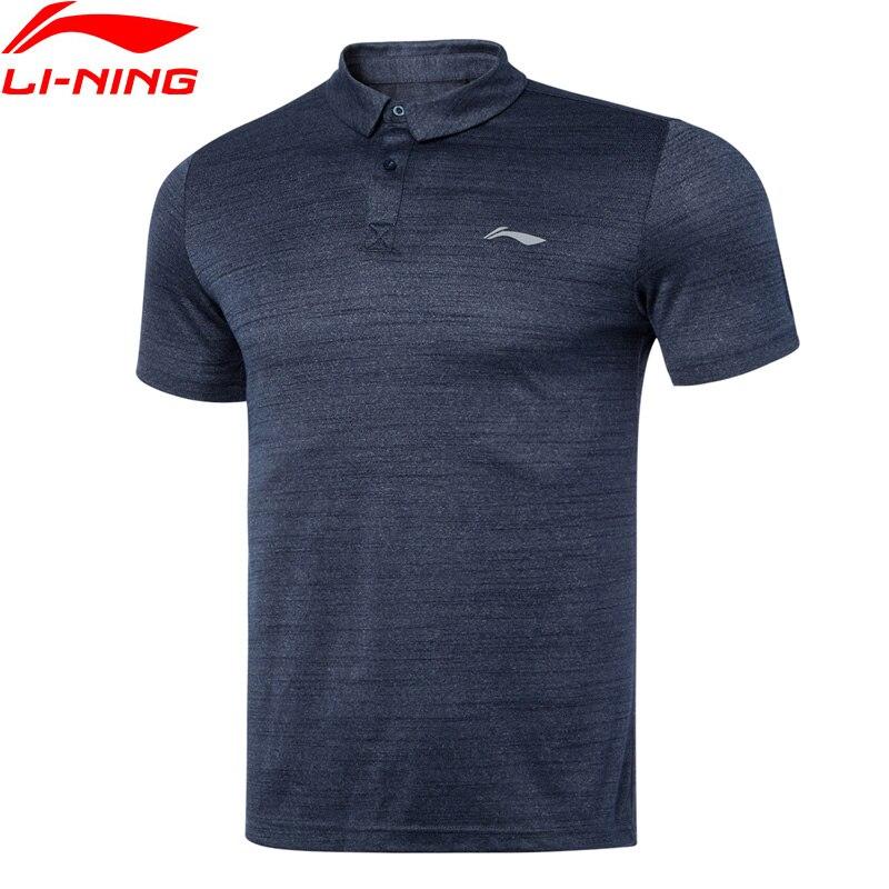 Мужская спортивная футболка поло Li Ning из 100% полиэстера с подкладкой, дышащие спортивные футболки li ning, топы APLQ187 MTP502|Баскетбольные майки|   | АлиЭкспресс