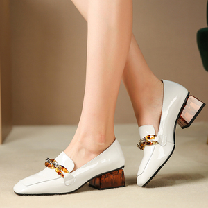 Image 4 - المرأة الشقق أكسفورد أحذية امرأة حقيقية أحذية رياضية من الجلد السيدات تصليحه slipon خمر حذاء كاجوال أوكسفورد أحذية للنساء