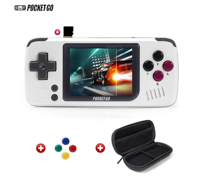 2.4 polegada pocketgo handheld consola de jogos 32g ips tela retro jogador de jogo clássico nes/gb/gbc/ps1 miyoo consoles jogadores de jogos