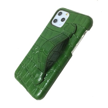 Genuine leather hand strap holder case for iPhone 11 12 Pro Max ProMax phone cases 2020 hot luxury crocodile thin hard cover
