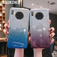 Kowkaka Shiny Gradient Glitter Phone Case For Huawe