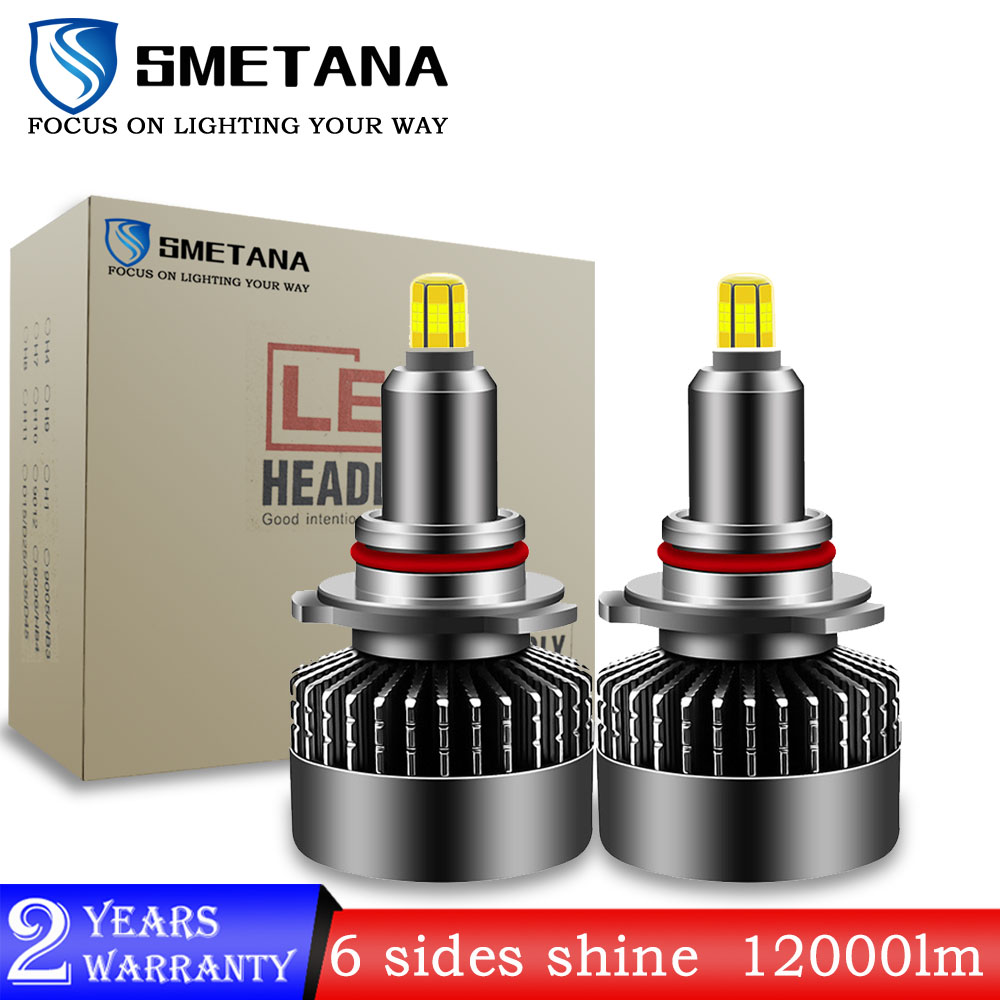 SMETANA L3 2Pcs 6 sides shine H7 Canbus <font><b>Led</b></font> Car Headlight H1 H8 H9 H11 9005 9006 <font><b>9012</b></font> Big Power <font><b>led</b></font> Headlamp 360° Shine 16000LM image