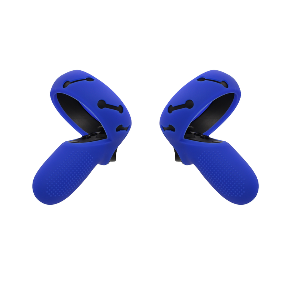 Silicone Protective Cover Touch Controller Grip Cover Skin with Knuckle Straps for Oculus Quest//Oculus Rift S Blue