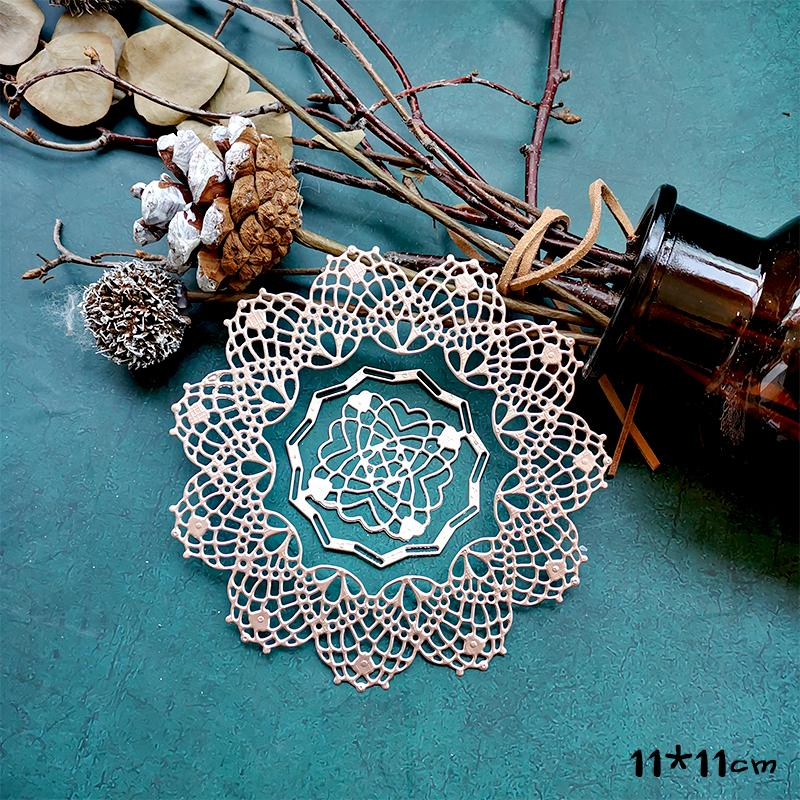 KSCRAFT Flower Doily Metal Cutting Dies Stencils For DIY Scrapbooking Decorative Embossing DIY Paper Cards