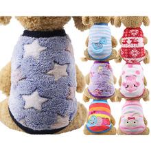 Pawstrip małe ubrania dla psa ciepłe zimowy płaszcz dla psa bawełniany polar strój dla szczeniaczka kamizelka dla szczeniaka odzież buldog francuski Chihuahua XXS-XL tanie tanio CN (pochodzenie) Jesień zima W paski DM83985 XXS S M L XL XXL Pink Heart Horse Frog Rainbow Stripe Rabbit Chihuahua Yorkshire terrier Deerdog Pomeranian Shih tzu Teddy etc