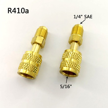 Female Flare-Valve-System Cool To R410a-Adapter 2pcs Refrigerant Quick-Couplers Car AC