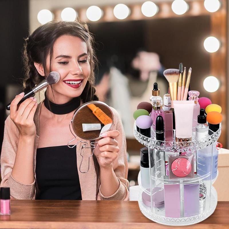 Transparent Jewellery Box Hot Selling Multi function Simplicity Acrylic Multi layer Makeup Organizer Rotating Cosmetic Storage|Makeup Organizers| |  - title=