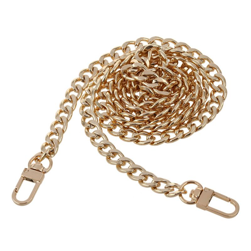 ABZC-Round Replacement Chain Flat For Handbag Purse Or Shoulder Strapping Bag Gold 9mm