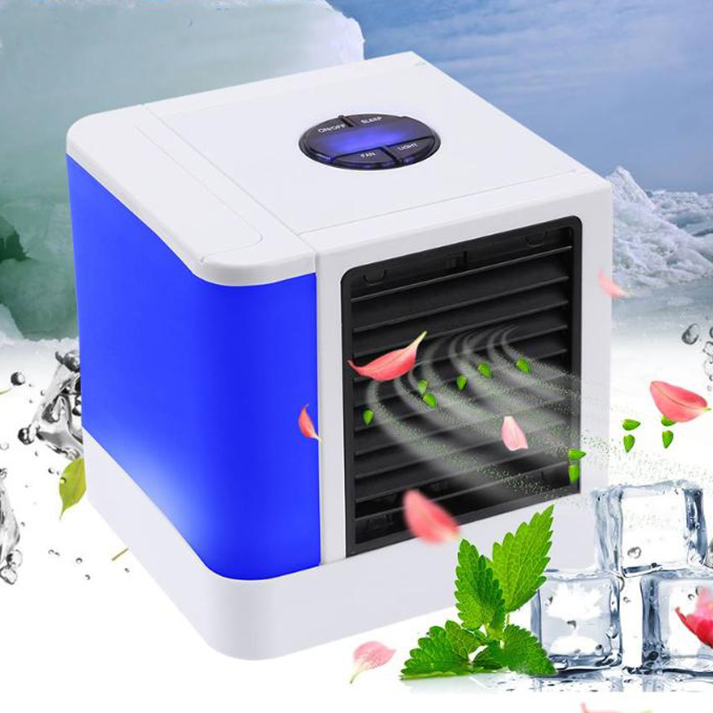 Air Cooler Fan Air Conditioner Humidifier Cooling Fan Mini USB Portable Desk Table Dropshipping 10-15 Days Arrive In USA EU FA
