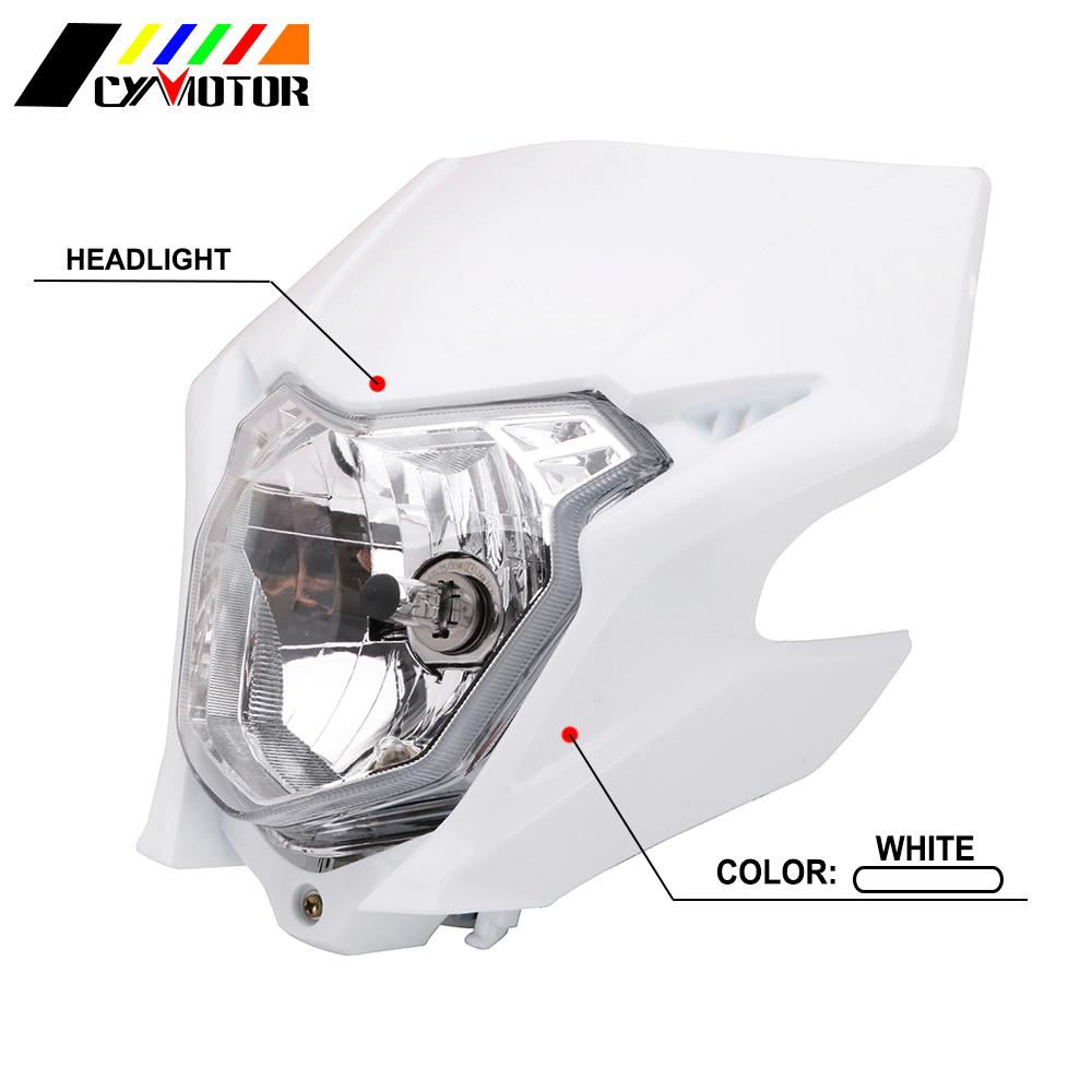 Motorcycle Plastic Head Light Enduro Supermoto Headlight Headlamp Fairing For Honda CRF CRF150L 150L 2016-2019 Dirt Bike