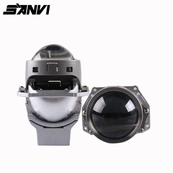 Sanvi R2 3inch Auto BI led Projector Lens Headlioght 50W 5500K Car LED Projector Headlight with Dual chips Dual Reflectors image