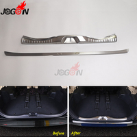 For Toyota Alphard AH30 2016 2019 Stainless Steel Trunk Rear Door Sill Plate Pad Scuff Threshold Protector Cover Guard