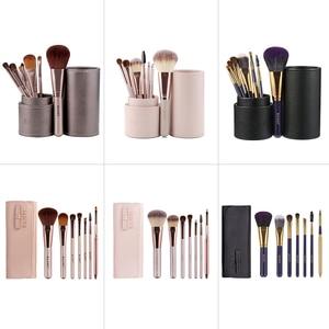 Image 5 - 7 Pçs/set Pincéis de Maquiagem Kit de Beleza Make up jogo de Escova Concealer Cosméticos Pincel de Blush Fundação Eyeshadow Concealer Lip Eye Ferramenta
