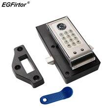 Alarme de sécurité porte en bois en acier inoxydable mot de passe serrure de porte électronique mot de passe armoire serrure intelligente casier hôtel serrure de fichier
