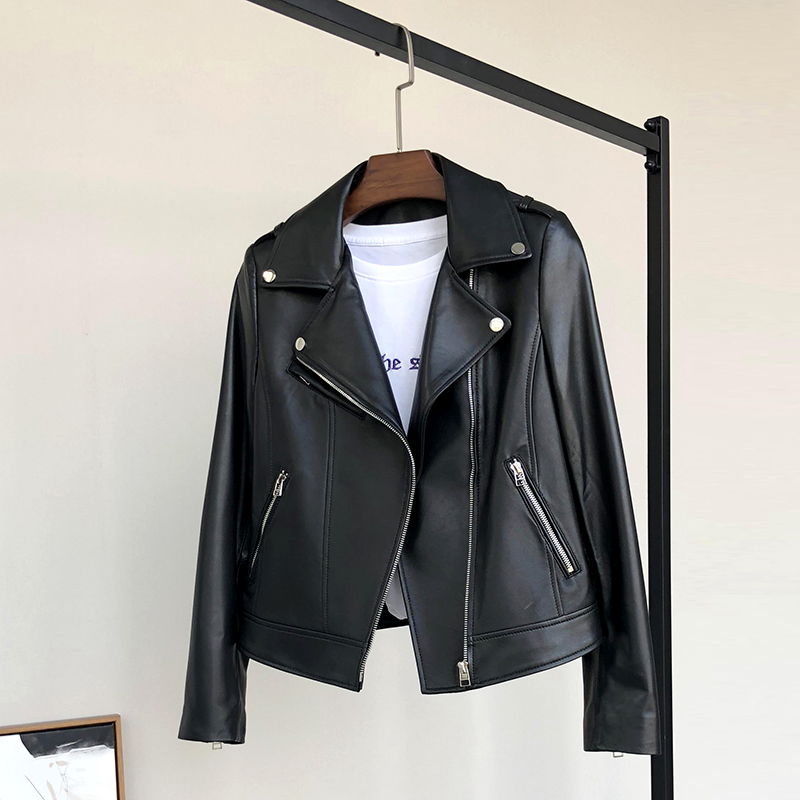 motorcycle womens jackets coat woman leather(China)