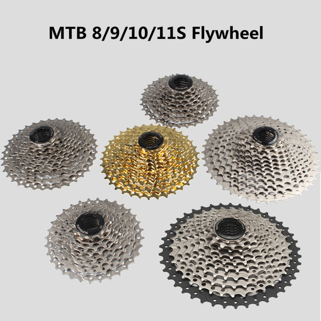 11 Speed MTB Road Bike Freewheel Cassette Gold//Silver 11-28//32T Bicycle Flywheel
