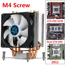 4 медный радиатор охлаждающий вентилятор для процессора 90 мм