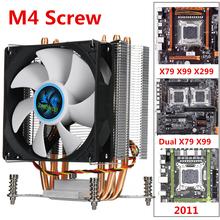 4 miedzi Heatpipe chłodnica procesora wentylator chłodzący 90mm 3Pin wentylator do procesora Radiator chłodzący dla Intel LGA 2011 X79 X99 299 tanie tanio LEORY NONE CN (pochodzenie) for Intel LGA 2011 X79 X99 299 Fluid Łożyska 50000 godzin 2200 RPM 22dBA 3 Linie CPU Cooling