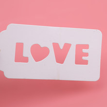 Love Hollow Kraft Paper Tag Paper Clothing Food Label Tag DIY Handmade Label Holiday Party Label(China)